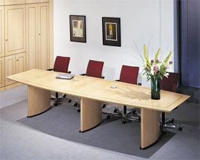 Boat Barrel Shaped Boardroom Table