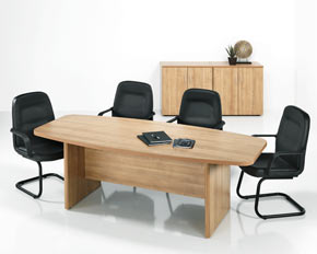 Boat Shaped Meeting Tables Barrel Shaped Conference