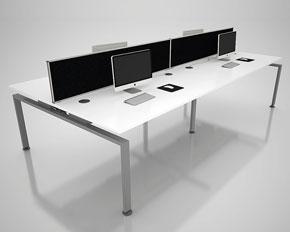 corner leg bench desking