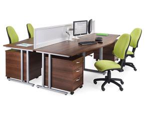 panel end bench desking