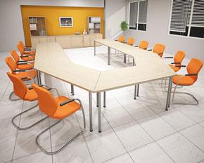 modular training room tables with 40mm tubular legs