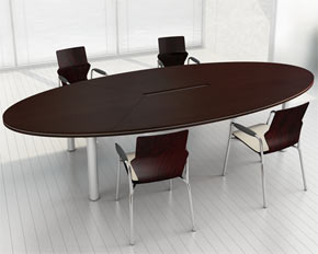 oval boardroom table