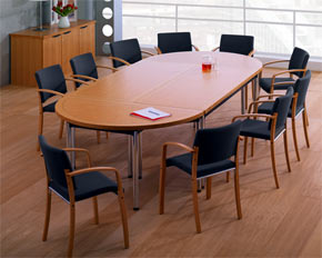 folding frame d-end boardroom table