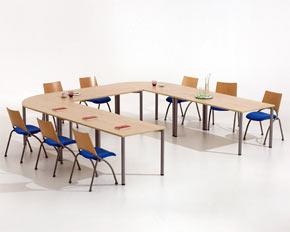 modular meeting table layout