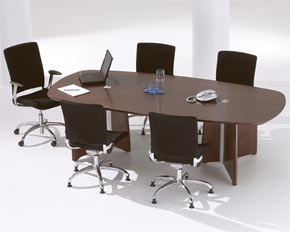 boat / barrel shaped boardroom table