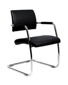 soft leather faced meeting chair