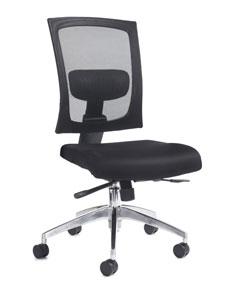 black fabric mesh task chair