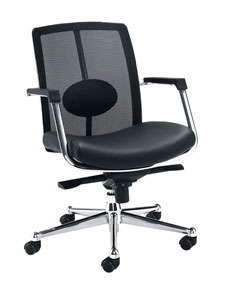 leather-look mesh back chair