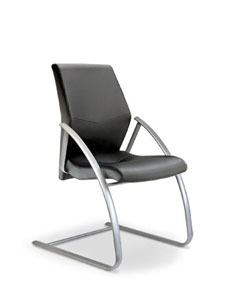 fully upholstered cantilever chair