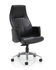 fully upholstered high back manager's armchair