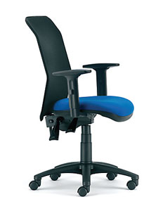 mesh back task chair with adjustable arms
