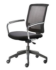mesh back swivel armchair